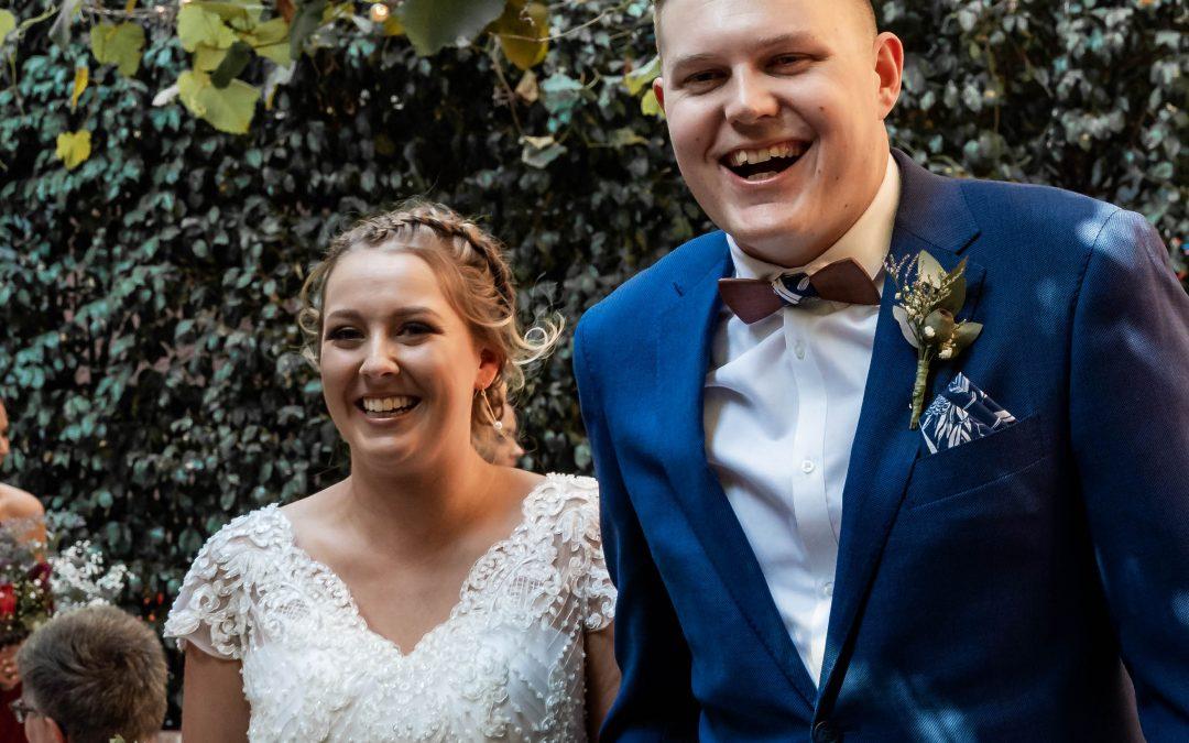 Jarrod and Gabi loved every minute of their wedding…